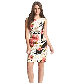 Connected® Floral Leopard Sheath Dress