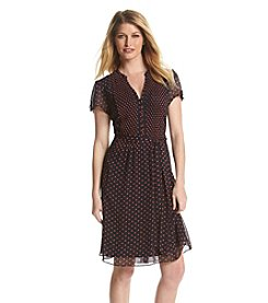 Prelude® Dot Patterned Shirtdress