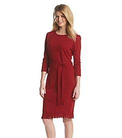 Lennie Belted Fringe Hem Dress