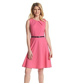 AGB® Fit And Flare Belt Dress
