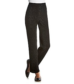 Prophecy Petites' Flocked Ponte Pull On Pants