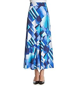 Notations® Petites' Printed Slice Hem Maxi Skirt