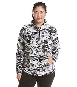 Exertek® Plus Size Tie Dye Half Zip Pull Over
