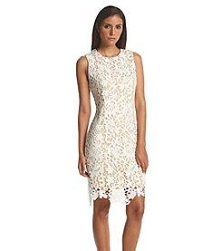 Calvin Klein Lace Midi Sheath Dress