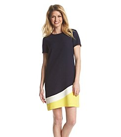 Tommy Hilfiger® Colorblock Crepe Sheath Dress