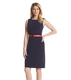 Tommy Hilfiger® Ribbed Belted Sheath Dress
