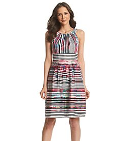 Nine West® Striped Fit And Flare Dress