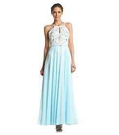 Xscape Beaded Chiffon Gown