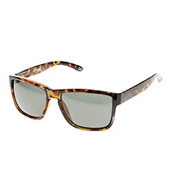 Paradise Collection® Men's Polarized Tort Deep Dish Retro Square Sunglasses