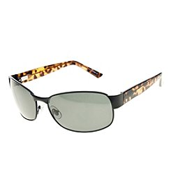 Paradise Collection® Men's Polarized Single Bridge Rectangle Sunglasses