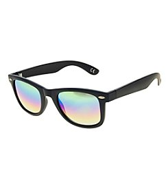 Paradise Collection® Men's Rubberized Retro Square Sunglasses