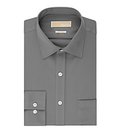 MICHAEL Michael Kors® Men's Gunmetal Twill Spread Collar Dress Shirt