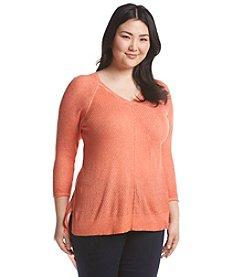Democracy Plus Size Asymmetrical Hem Sweater