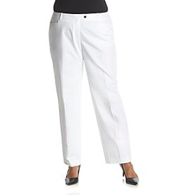 Calvin Klein Plus Size Solid Pants