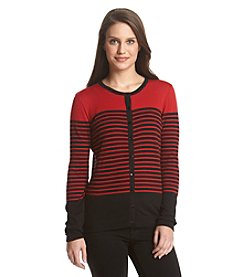 August Silk® Stripe Cardigan