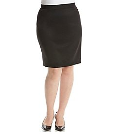Relativity® Plus Size Solid Scuba Skirt