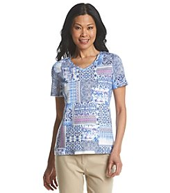 Studio Works® Bella Villa Print V-Neck Tee