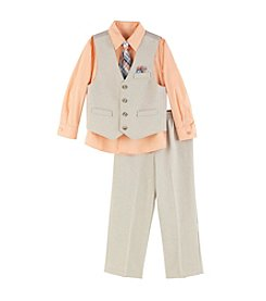 Van Heusen® Boys' 2T-7 3-Piece Solid Vest Set