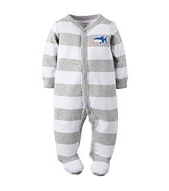 Carter's® Baby Boys Shark Striped Footie