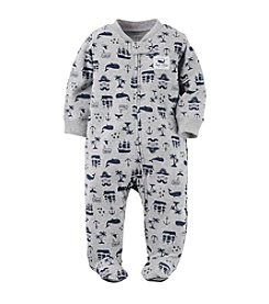 Carter's® Baby Boys Whales And Boats Printed Footie