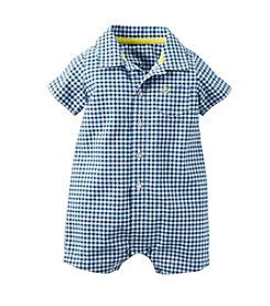 Carter's® Baby Boys Checked Romper