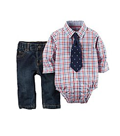 Carter's® Baby Boys' Plaid Bodysuit And Denim Pants Set