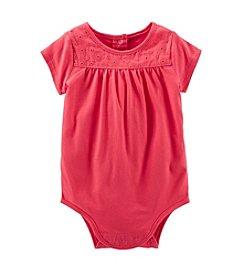 OshKosh B'Gosh® Baby Girls' Rose Lace Yoke Bodysuit