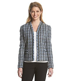 Tahari ASL® Fringe Tweed Jacket