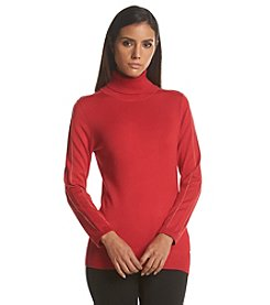 Calvin Klein Beaded Turtleneck Sweater