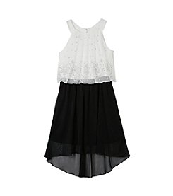 A. Byer Girls' 7-16 Popover Halter Dress