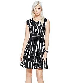 Vince Camuto® Cap Sleeve Graphic Dress