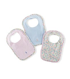 Lauren® Baby Girls' Floral Bib Set