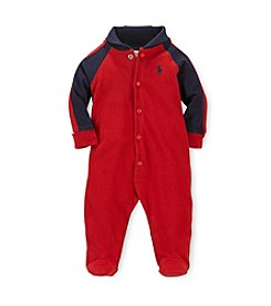 Ralph Lauren Childrenswear Baby Boys' Newborn-9M Shawl Collar Coveralls