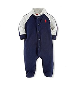 Ralph Lauren Childrenswear Baby Boys' Shawl Collar Coveralls