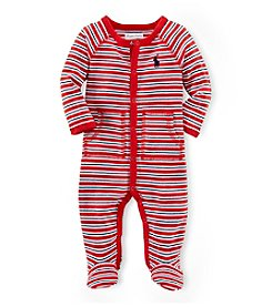 Ralph Lauren Childrenswear Baby Boys' Striped Coveralls