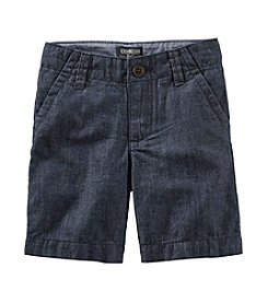 OshKosh B'Gosh® Boys' 2T-7 Chambray Flat Front Shorts