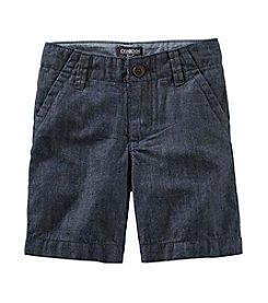 OshKosh B'Gosh® Boys' 2T-7 Chambray Flat Front Shorts