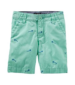 OshKosh B'Gosh® Boys' 2T-7 Fish Bone Printed Shorts