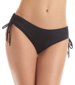 Calvin Klein Side Shirred Hipster Swim Bottoms