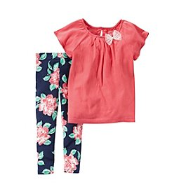 Carter's® Girls' 2T-6X Rose Print Shirt And Pants Set