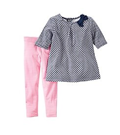 Carter's® Girls' 2T-6X Patterned Shirt And Pants Set