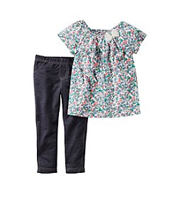 Carter's® Girls' 2T-6X Floral Shirts And Pants Set
