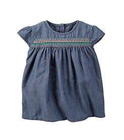 Carter's® Girls' 2T-6X Chambray Embroidered Woven Top