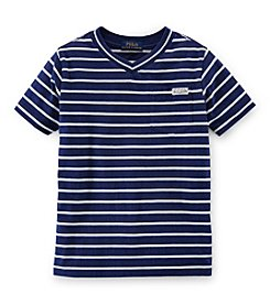 Ralph Lauren Childrenswear Boys' 8-20 Short Sleeve V-Neck Shirt