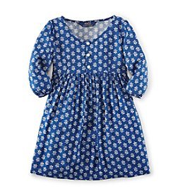 Ralph Lauren Childrenswear Girls' 2T-16 Blue And White Floral Dress