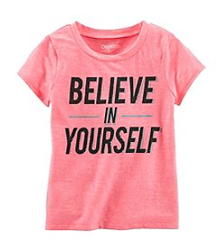 OshKosh B'Gosh® Girls' 2T-6X 'Believe In Yourself' Short Sleeve T-Shirt