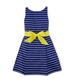 Ralph Lauren Childrenswear Girls' 2T-16 Multi Stripe Flared Dress