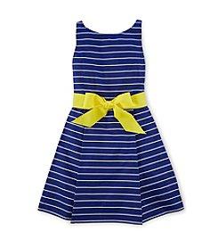 Ralph Lauren Childrenswear Girls' 2T-16 Multi Stripe Flared Dress