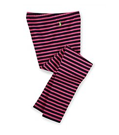Ralph Lauren Childrenswear Girls' 2T-16 Multi-Stripe Jersey Leggings