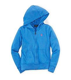 Ralph Lauren Childrenswear Girls' 2T-16 Atlantic Terry Hoodie
